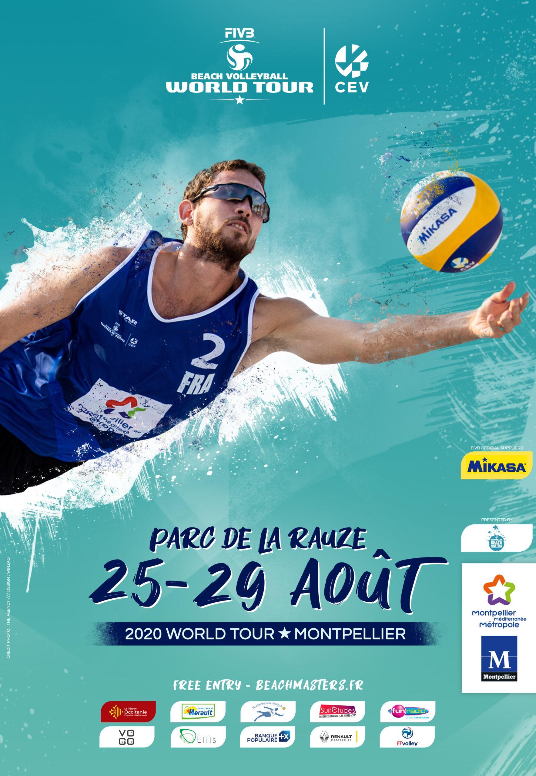 affiche montpellier beach masters 2020 par winzao