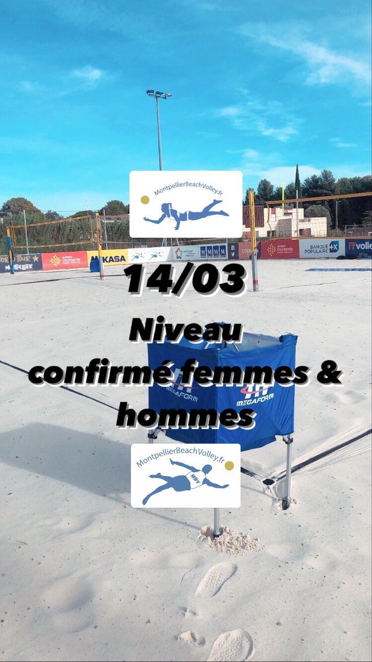 14/03 NIVEAU CONFIRMÉ FEMMES & HOMMES  !☀️