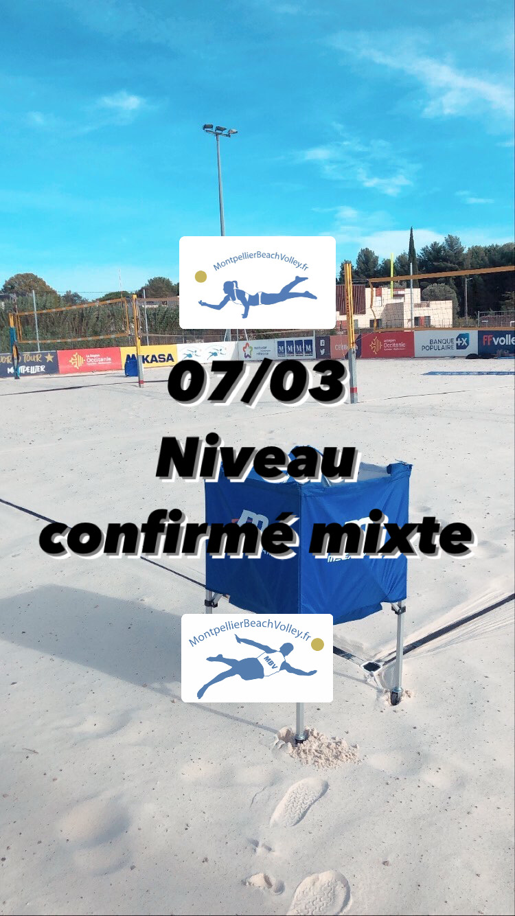 07/03 NIVEAU CONFIRMÉ MIXTE !☀️