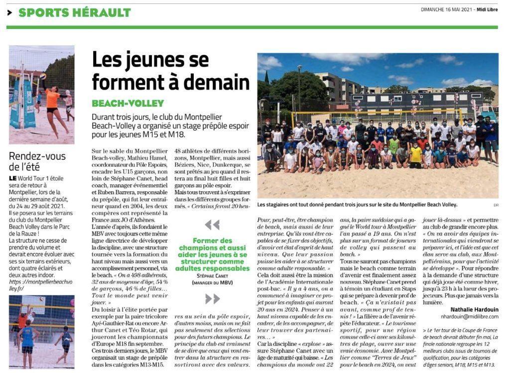 Read more about the article 3e stage Pré-Pôle Beach réussie !