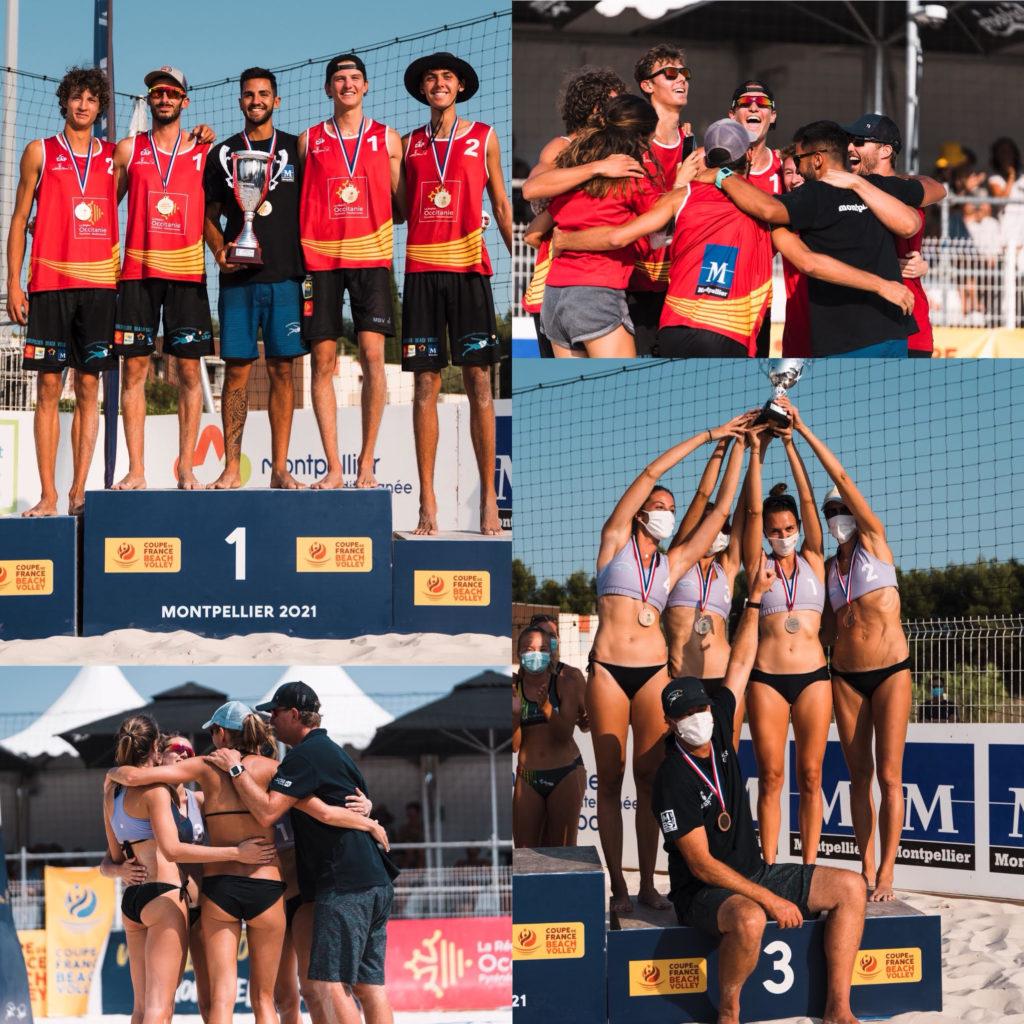 Read more about the article Le MBV Vainqueur de la Coupe de France Beach Volley 2021 Senior chez les Hommes et 3e place chez les femmes !